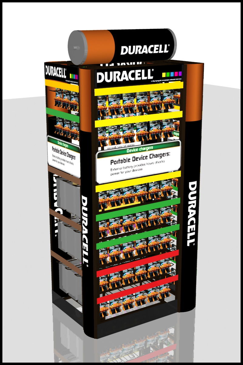 FD 1588 13_Duracell négyoldalas display